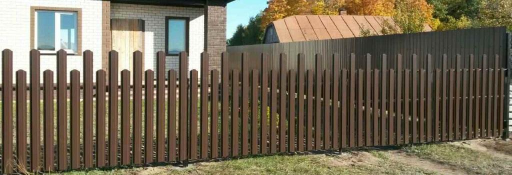 Забор из евроштакетника с установкой в Химках